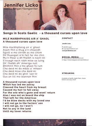 Scots Gaelic Translations